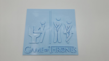 Game of Thrones funny toilet sign